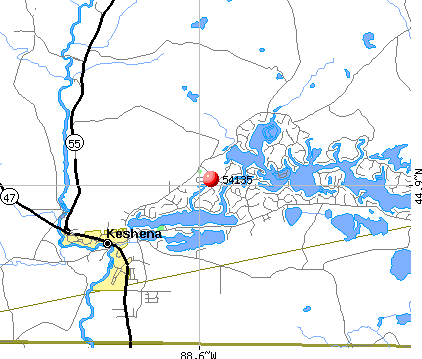 Legend Lake, WI (54135) map