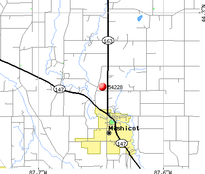 Mishicot, WI (54228) map
