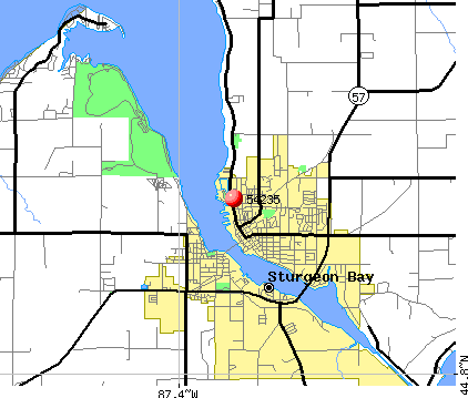 Sturgeon Bay, WI (54235) map