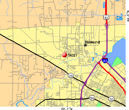 Suamico, WI (54313) map