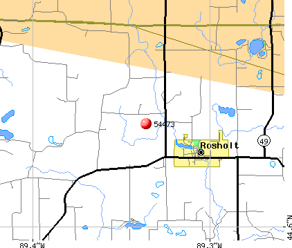 Rosholt, WI (54473) map