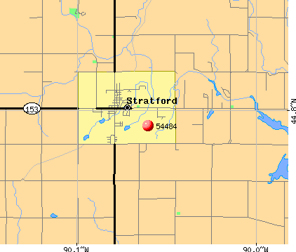Stratford, WI (54484) map