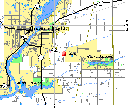 Wisconsin Rapids, WI (54494) map