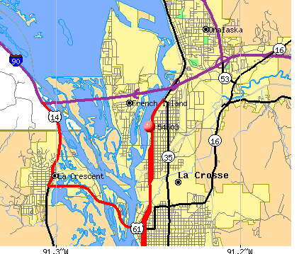 La Crosse, WI (54603) map