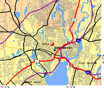 New Haven, CT (06511) map