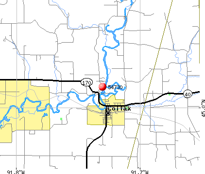 Tainter Lake, WI (54730) map