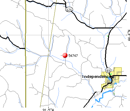 Independence, WI (54747) map