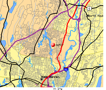 New Haven, CT (06517) map