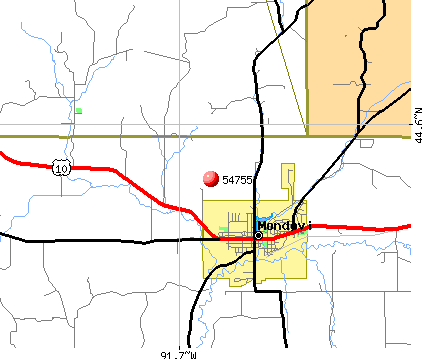 Mondovi, WI (54755) map