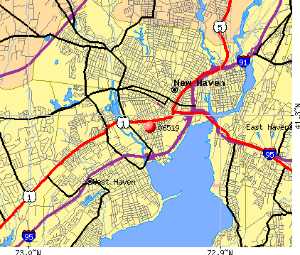 New Haven, CT (06519) map
