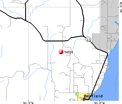Bayfield, WI (54814) map