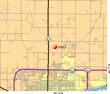 Appleton, WI (54913) map