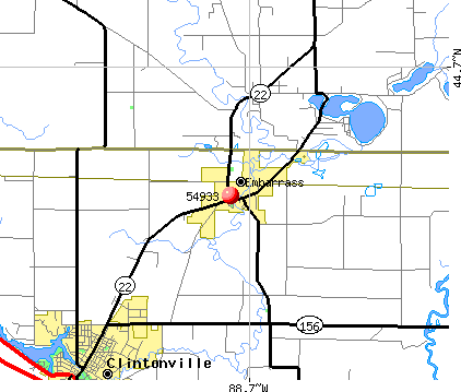 Embarrass, WI (54933) map