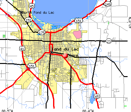 Fond du Lac, WI (54935) map