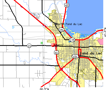 Fond du Lac, WI (54937) map