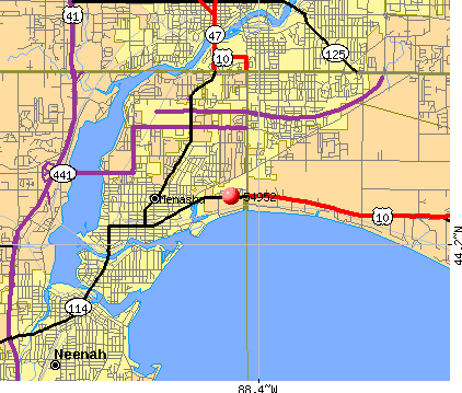 Menasha, WI (54952) map