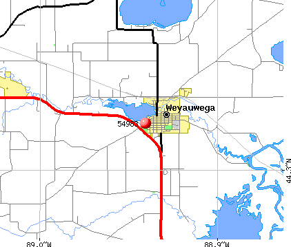 Weyauwega, WI (54983) map