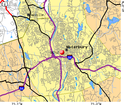 Waterbury Ct Zip Code Map | Zip Code Map