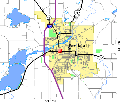 Faribault, MN (55021) map