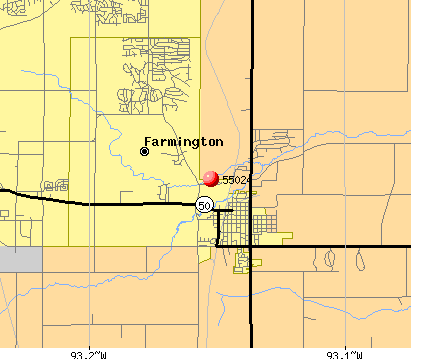 Farmington, MN (55024) map