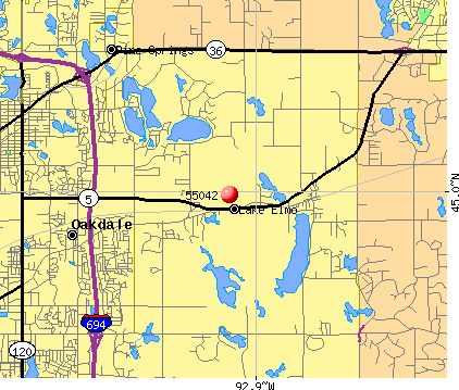 Lake Elmo, MN (55042) map