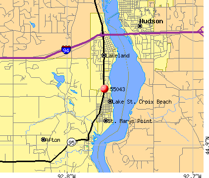Lakeland, MN (55043) map