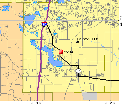 Lakeville, MN (55044) map