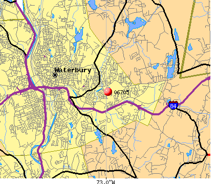 Waterbury, CT (06705) map