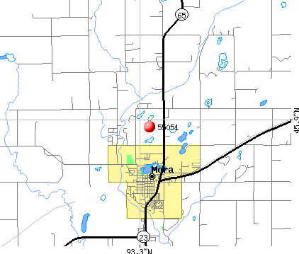 Mora, MN (55051) map