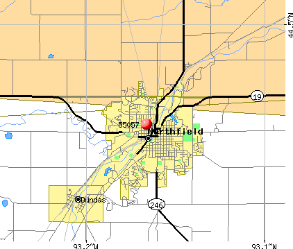 Northfield, MN (55057) map