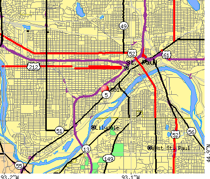 St. Paul, MN (55102) map