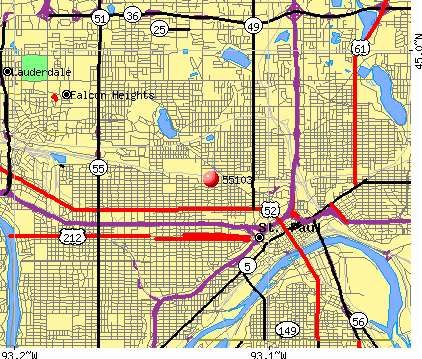 St. Paul, MN (55103) map