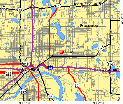 St. Paul, MN (55106) map