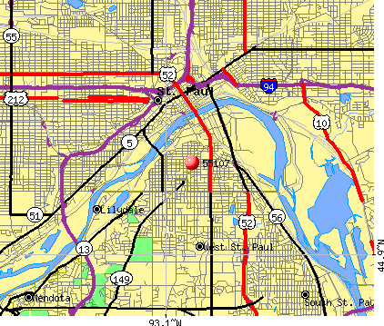 St. Paul, MN (55107) map