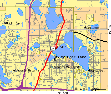 White Bear Lake, MN (55110) map