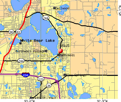 Mahtomedi, MN (55115) map
