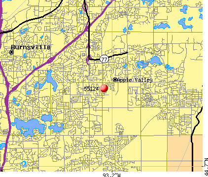 Apple Valley, MN (55124) map