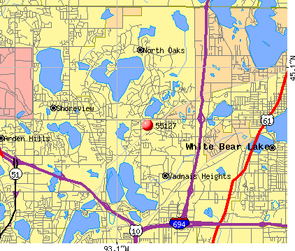 North Oaks, MN (55127) map