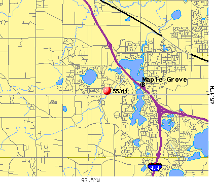 Maple Grove, MN (55311) map