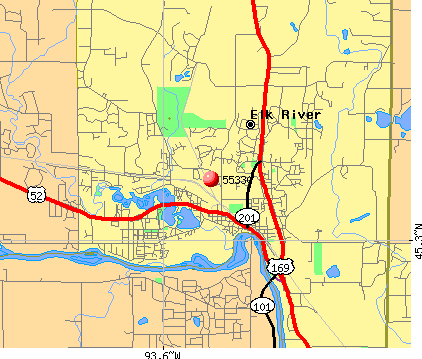 Elk River, MN (55330) map