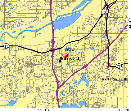Burnsville, MN (55337) map