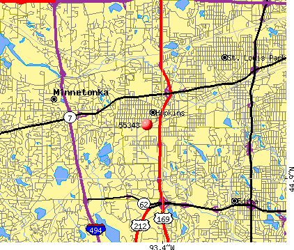 Minnetonka, MN (55343) map