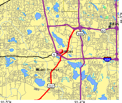 Eden Prairie, MN (55344) map