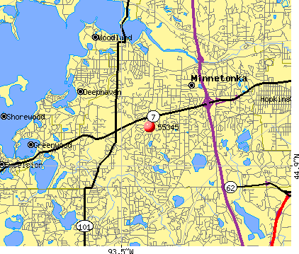 Minnetonka, MN (55345) map
