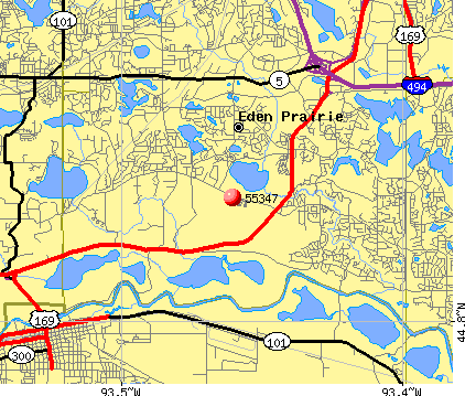 Eden Prairie, MN (55347) map