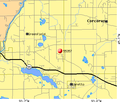 Greenfield, MN (55357) map