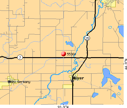 Mayer, MN (55360) map