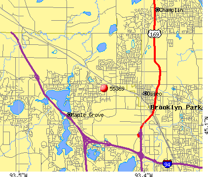 Maple Grove, MN (55369) map