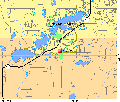 Prior Lake, MN (55372) map