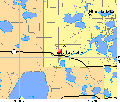 Minnetrista, MN (55375) map